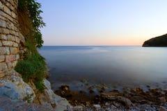 Sonnenuntergang von den Schlosswänden Lizenzfreie Stockfotos