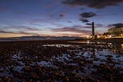 Sonnenuntergang von den Steinen lizenzfreie stockbilder