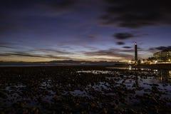 Sonnenuntergang von den Steinen stockfoto