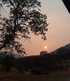 Sonnenuntergang von der drei Fluss-Ranch lizenzfreie stockfotografie
