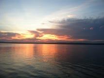 Sonnenuntergang von der Insel Stockbild