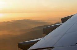 Sonnenuntergang von der Luft! Lizenzfreies Stockfoto