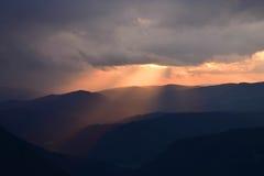 Sonnenuntergang von Eagle-` s Auge Stockbild