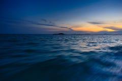 Sonnenuntergang von einer Bootsfahrt Lizenzfreie Stockbilder