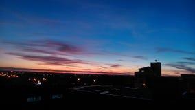 Sonnenuntergang von Farben Lizenzfreie Stockfotografie