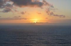Sonnenuntergang von Finistere-Kap Stockfotos