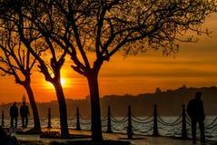 Sonnenuntergang von Istanbul Stockbilder