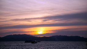 Sonnenuntergang von Langkawi-Insel, Malaysia timelapse stock video