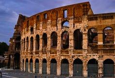 Sonnenuntergang von Rom Colosseum Lizenzfreie Stockfotos