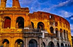Sonnenuntergang von Rom Colosseum Lizenzfreie Stockfotografie