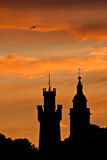 Sonnenuntergang von St. Peter Port Lizenzfreie Stockfotos