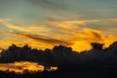 Sonnenuntergang von Tahiti stockfoto