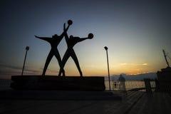 Sonnenuntergang von Taranto stockfotos