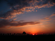 Sonnenuntergang von Vampiren Stockfotos