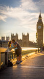 Sonnenuntergang Westminsters London Stockbild