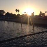 Sonnenuntergang wieder Stockfoto