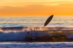 Sonnenuntergang Wipeout! stockfoto