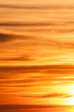Sonnenuntergang-Wolken-Bildung Stockfotografie