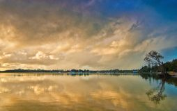 Sonnenuntergang am yamba Lizenzfreie Stockfotografie