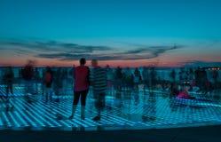 Sonnenuntergang in Zadar Lizenzfreies Stockfoto