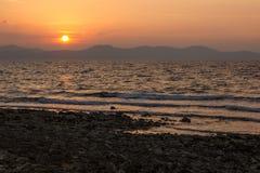 Sonnenuntergang in Zadar, Kroatien Lizenzfreies Stockbild