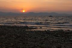 Sonnenuntergang in Zadar, Kroatien Lizenzfreies Stockfoto