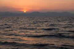 Sonnenuntergang in Zadar, Kroatien Lizenzfreie Stockbilder