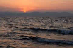 Sonnenuntergang in Zadar, Kroatien Lizenzfreie Stockfotografie