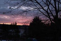 Sonnenuntergang zu Hause Stockbild