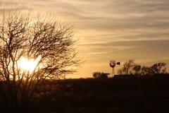 Sonnenuntergang zu Hause Lizenzfreie Stockfotos