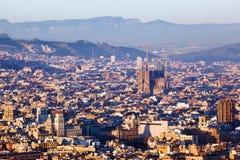 Sagrada Familia am Abend Lizenzfreie Stockfotografie