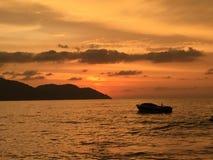 Sonnenuntergangansicht Stockfoto