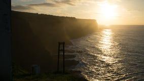 Sonnenuntergangansicht bei Flores, Azoren lizenzfreies stockfoto