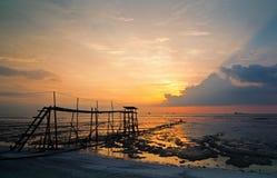 Strand am Sonnenuntergang Stockfotos
