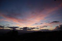 Sonnenuntergangansicht Eine Ansicht wert die Aufwartung lizenzfreie stockbilder