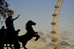 Sonnenuntergangansicht in London Stockfotografie