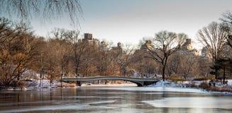 Sonnenuntergangansicht von New- York Cityskylinen Lizenzfreie Stockfotos