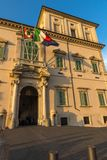 Sonnenuntergangansicht von Quirinal-Palast bei Piazza Del Quirinale in Rom, Italien Stockfoto