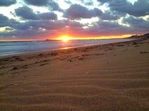 Sonnenuntergangaufflackern Stockfoto