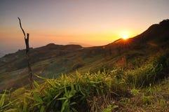 Sonnenuntergangberg Stockbild