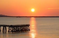 Sonnenuntergangbild Stockbild