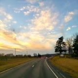 Sonnenuntergangbilder auf meinem Heimweg lizenzfreies stockbild
