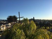 Sonnenuntergangboulevard Los Angeles Stockfoto