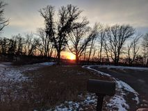 Sonnenuntergangboulevard stockfotos