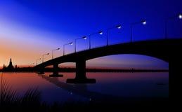 Sonnenuntergangbrücke Stockfotografie