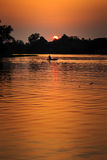 Sonnenuntergangchip-LKW-Effekte Stockfotografie