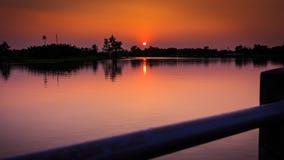 Sonnenuntergangchip-LKW-Effekte Lizenzfreie Stockfotografie