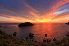 Sonnenuntergangdämmerung Phuket-Insel Lizenzfreies Stockfoto