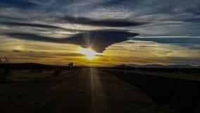 Sonnenuntergangerster teil Stockbild