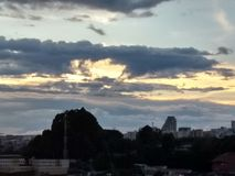 Sonnenuntergangfarbe stockfotos